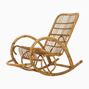Rattan Rocking Chair, 1960s