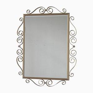 Espejo vintage con marco de aluminio
