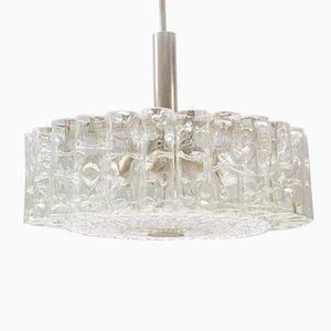 Lampada in vetro di Doria, anni '60