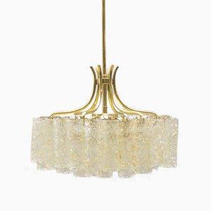 Lámpara de araña alemana Mid-Century de tres niveles de Doria, años 60