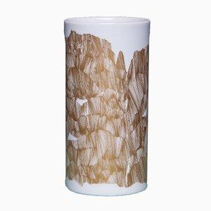Vintage Vase in Gold & Weiß von Rosenthal