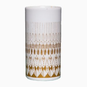 Vintage White & Gold Vase from Hans Theo Baumann for Rosenthal, 1970s
