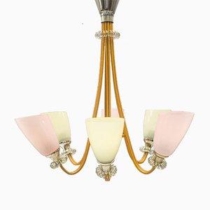 Lámpara colgante Mid-Century en color pastel, años 50