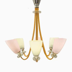 Pastel-Colored Mid-Century Pendant, 1950s