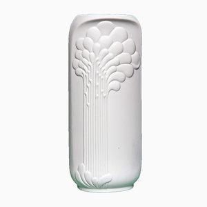 Vaso bianco di Manfred Frey per Kaiser-Porzellan, anni '70