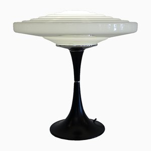 UFO Opaline Glass Table Lamp from Gaivota, 1970s