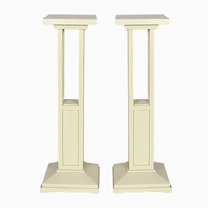 Cubist Pedestals, 1910s, Set of 2