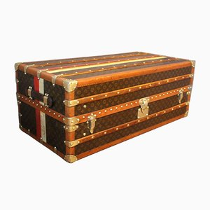 Stenciled Monogram Wardrobe Steamer Trunk from Louis Vuitton, 1930s