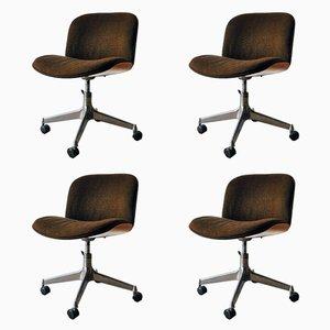 Sedie da ufficio Mid-Century di Ico Parisi per MIM Design, set di 4