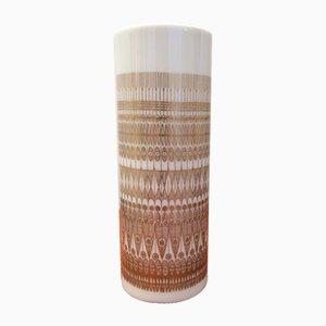 Vase in Weiß & Gold von Hans Theo Baumann für Rosenthal Studio Line, 1970er