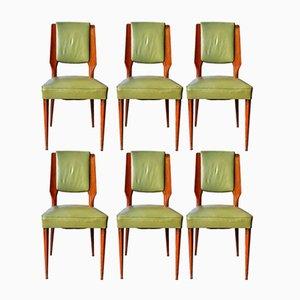 Chaises Mid-Century par Paolo Buffa, Set de 6