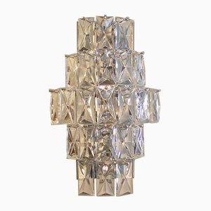 Lampada da parete vintage in cristalo di Kinkeldey