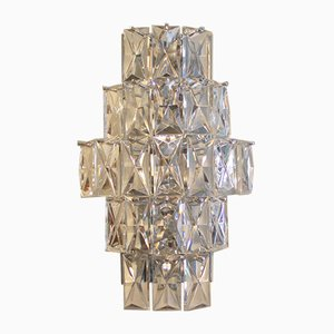 Vintage Crystal Glass Wall Lamp from Kinkeldey