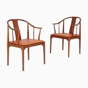 China Stühle von Hans J. Wegner für Fritz Hansen, 1966, 2er Set
