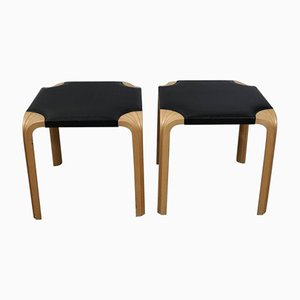 Fan Leg Stools by Alvar Aalto, 1950s, Set of 2