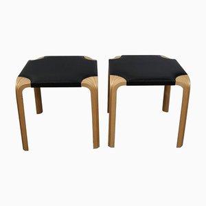 Sgabelli con gambe a forma di ventaglio di Alvar Aalto, anni '50, set di 2
