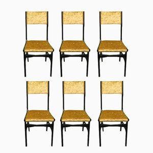 Mid-Century Chairs in the Style of Carlo de Carli, Set of 6