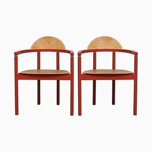 Leather Chairs from Karl Andersson & Söner, 1950s, Set of 2