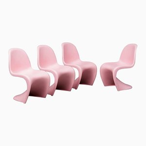 S Chairs by Verner Panton for Vitra, 1958, Set of 4