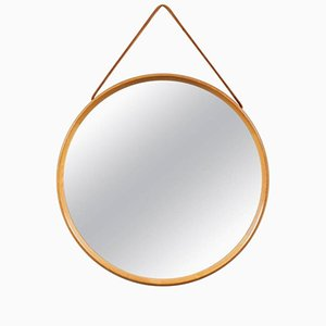 Round Wall Mirror by Uno & Östen Kristiansson for Vittsjömöbel, 1960s