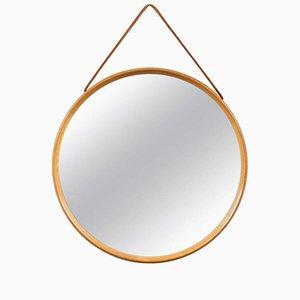 Specchio da parete rotondo di Uno & Östen Kristiansson per Vittsjömöbel, anni '60