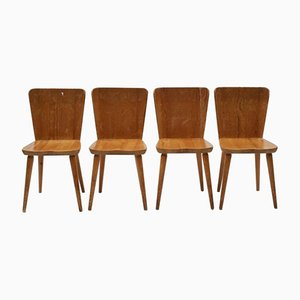 Model 510 Svensk Fur Chairs by Göran Malmvall for Karl Andersson & Söner, 1950s, Set of 4
