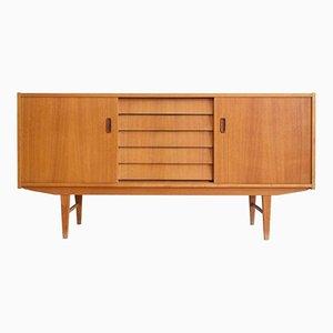 Skandinavisches Vintage Teak Furnier Sideboard
