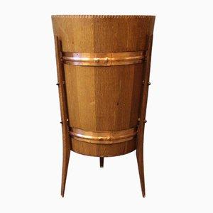 Balde para vino danés de teca y cobre, años 60