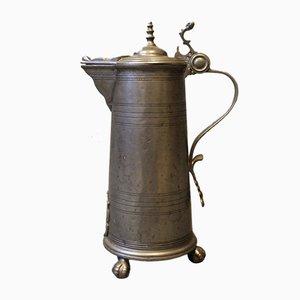 Grande Tasse avec Couvercle en Étain, 1780s