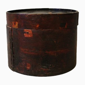 Caja china de madera para sombreros, años 30