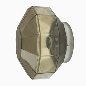 Modernist German Diamond Wall Light by Glashütte Limburg, 1970s