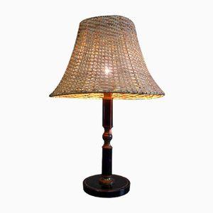 Lampe mit Lederbezug, 1940er