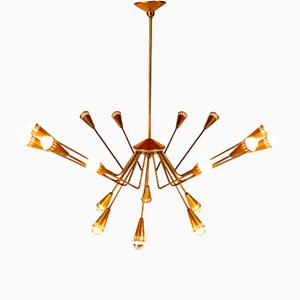 18-Light Chandelier by Oscar Torlasco for Lumi, 1950s
