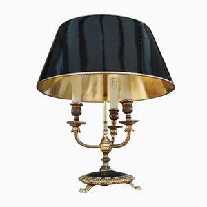 Französische Vintage Bouilotte Tischlampe