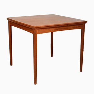 Mid-Century Teak Square Dining Room Table by Poul Hundevad for Hundevad & Co