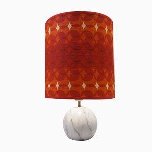 Lámpara de mesa con base de mármol, años 70