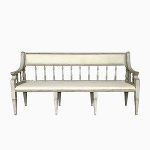 Antikes Gustavianisches 3-Sitzer Sofa