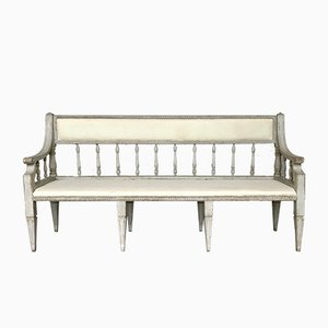 Antique Gustavian Three-Seater Sofa