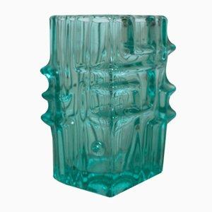 Grüne Vintage Glasvase von Vladislav Urban