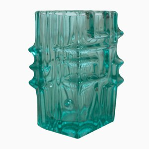 Vintage Green Glass Vase by Vladislav Urban