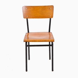Minimalistischer Industrieller Vintage Beistellstuhl