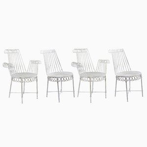 Cap D'Ail Garden Chairs by Mathieu Mategot, 1950s, Set of 4