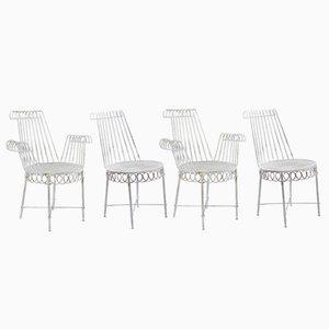 Chaises de Jardin Cap D'Ail par Mathieu Mategot, 1950s, Set de 4