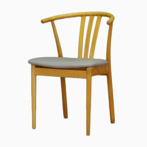 Mid-Century Danish Beech Veneer Chairs, Set of 6
