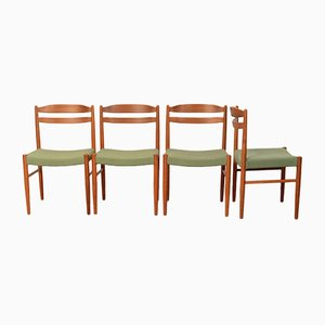 Mid-Century Scandinavian Teak Chairs, Set of 4
