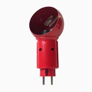 Applique Robot rossa di Bendt Hansen per DL Lampen, anni '70