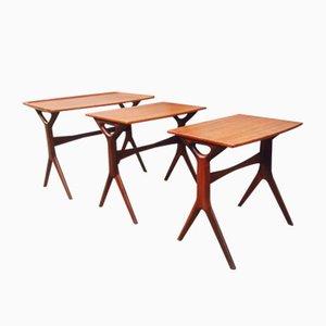 Tables Gigognes en Teck par Johannes Andersen pour CFC, Danemark, 1960s