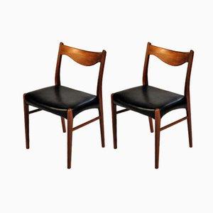Sedie da pranzo in teak di Ejnar Larsen & Axel Bender Madsen per Glyngøre Stolefabrik, anni '60, set di 2