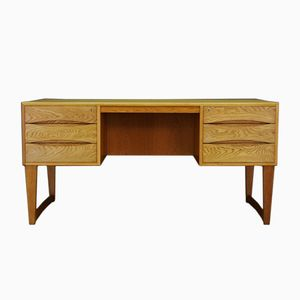 Mid-Century Scandinavian Ash Veneered Desk