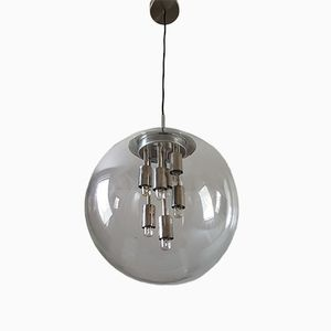 Glass Globe Lamp from Doria Leuchten, 1970s